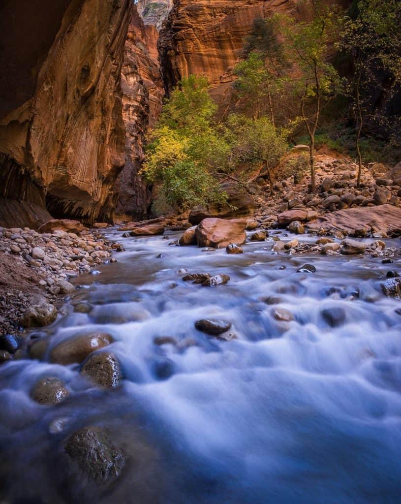 Virgin River in Zion Narrows